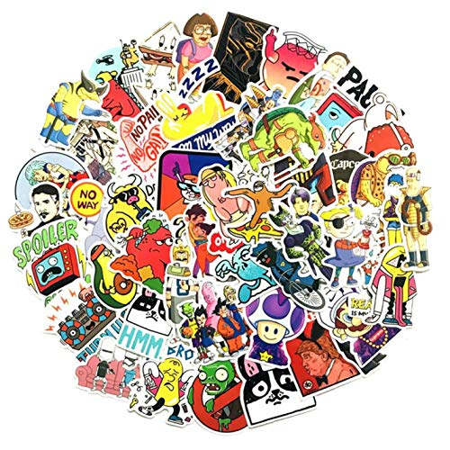 arret Middleton Kleurrijke 50 stks Gemengde Cartoon Stijl Anime Grappige Stickers Voor Kid DIY Laptop Koffer Skateboard Fiets Auto Stationery Stickers
