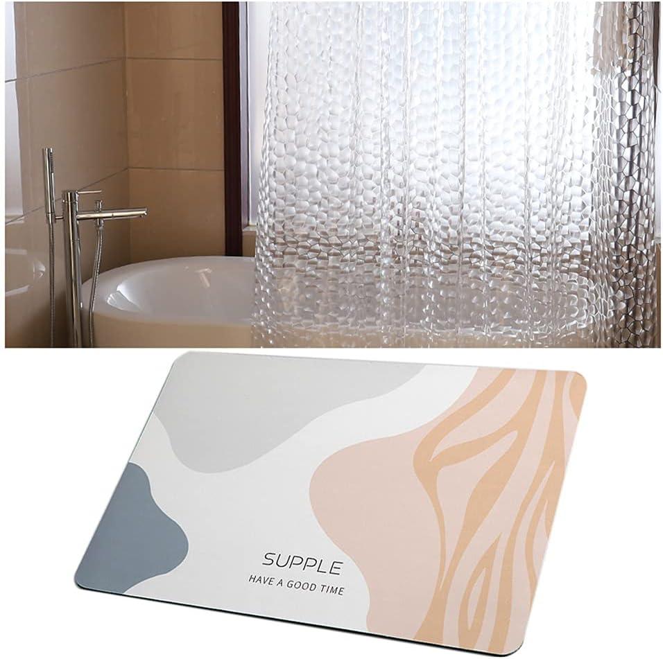 ZYQ Water High quality Cube Charlotte Mall Translucent Shower P Mud Geometric Curtain Diatom