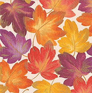Paper Napkins Thanksgiving Table Decorations Fall Decor Leaves Dinner Napkin Pk 40