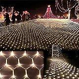 BABIFIS Luces de Red, Linterna LED Luces Intermitentes Luces de Red Luces de Navidad Luces de Cortina Decorativas Impermeables Luces de Fondo de Malla