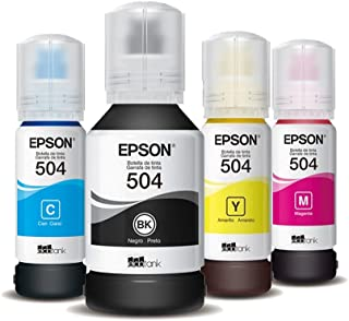 Kit 4 Tintas para Impressora Epson Original L6191