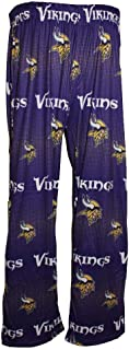 Minnesota Vikings Men's Scatter Pattern Pajama Lounge Multi Color Pants