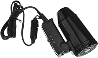 Evin Portátil pequeño 12V Negro Plegable Compacto Festival de Viaje y Camping portátil secador de Pelo de Coche