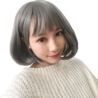 【Mt_Ikoma】ウィッグ フルウィッグ グレイヘア かつら セミロング おかっぱ ミディアム ロング 耐熱 ボブ 小顔 レディース LWG-01