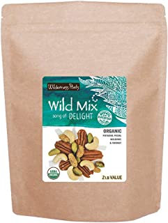 Wilderness Poets, Song of Delight Wild Mix - Organic Raw Trail Mix - Pecans, Cashews, Mulberries, Pistachios, Coconut Ribb...