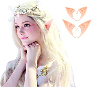 COCOPLAZA 2 Pairs Fairy Pixie Elf Cosplay Accessories Halloween Party Anime Party Costume Latex Elf Ears (2Pairs)