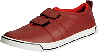 FAUSTO Men's Velcro Sneakers Casual Shoes