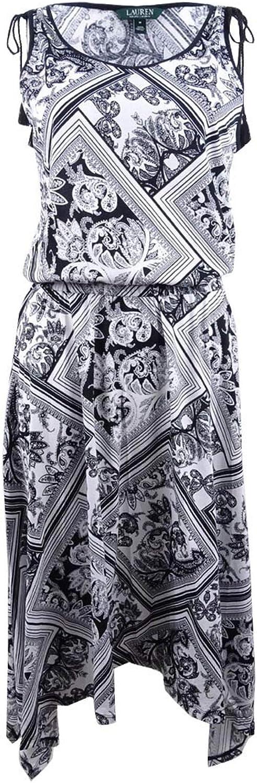 Lauren Ralph Lauren Womens Printed Sleeveless Maxi Dress