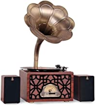 $752 » CHUXJ with Cassette Big Vintage Retro Classic Gramophone Phonograph Shape Stereo Speaker Sound System Music Box 3.5mm Audi...