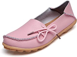 Jiyaru Womens Lace-up Nursing Work Loafers Shoes Breathable Slip-on Loafers