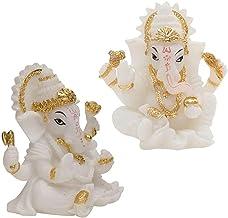 2 peças de um Deus Hindu Selfante Senhor da Prosperidade Fortune Feng Shui Decoração do painel do carro doméstico