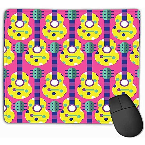 Standaardformaat Rechthoek Anti-slip Rubber Mousepad 30X25CM Naadloze Gitaar Akoestische Audio Kleur Kleurrijke Concert Ontwerp Grafische Instrument Schilderijen