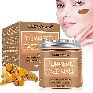 Turmeric Face Mask,Clay Facial Mask,Bentonite Clay Facial Mask,Blackhead Remover Mask,Skin Brightening Facial mask,Boosts ...