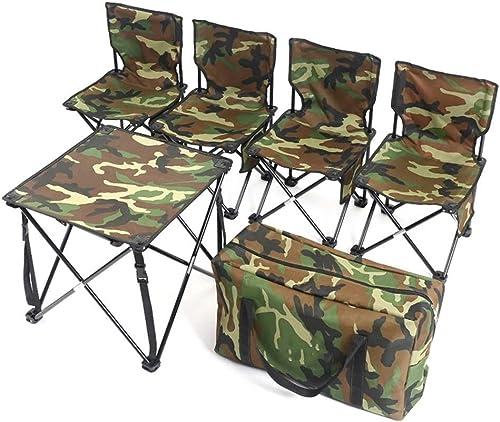 GXLYMX Table de camping pliante et chaise Table et chaise pliantes 4 table de camping portable et réglable en hauteur Table de salle à hommeger intérieure et extérieure avec poignée portable pique-nique