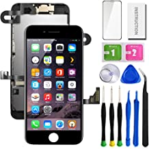 """SunlerPro for iPhone 7plus Black 5.5"""" LCD 3D Touch Digitizer Screen Replacement with Front Camera+ Earpiece+ Tools Kit+ Screen Protector iPhone LCD Screen Replacement kit"""