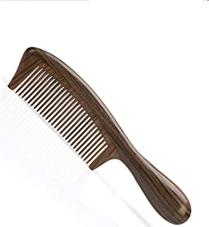 YUWEIPING Combs Portable Mini Anti-Static Short Hair,Curly Hair Wide Tooth Comb Ebony (Color : Brown)