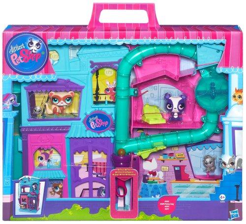 Hasbro Littlest Petshop Hasbro Littlest Pet Shop-Petshops Playset, Colore Turquoise, Purple, Pink, A3682