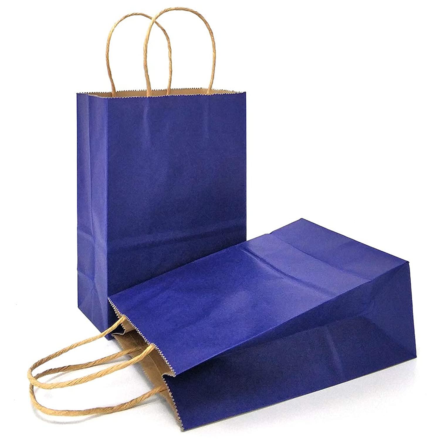 AZOWA Gift Bags Navy Blue Kraft Paper Bags with Handles Party Supplies Set of 25 qagobj9117228