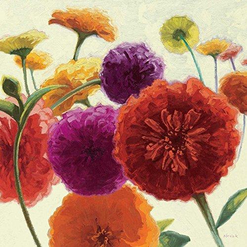 Feeling at Home LEINWANDDRUCKE-Bild-MIT-Rahmen.cm_96_X_96-Novak-Shirley-Blumen-Kunstdruck-auf-Gerahmte-Leinwand-zeitgenössische-
