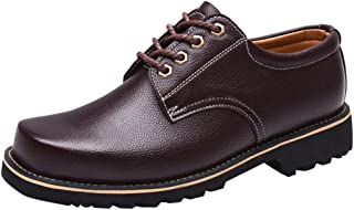 Kstare Men's Walking Shoe Mens Oxford Casual Classic Modern Business Lace Up Loafers Genuine Leather Formal Dress Shoes