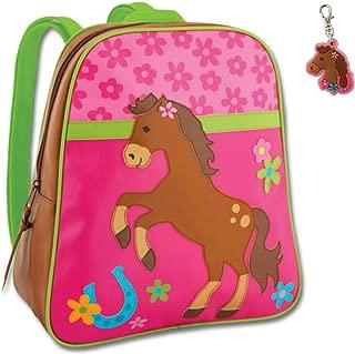 Stephen Joseph Girl Horse Backpack with Zipper Pull - Kids Book Bags