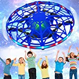 SHWD UFO Drones for Kids, Hand Operated Mini Drone Child Kids Drone with Led Lights, Levitation Flying Ball Drone Toy 360 Rotating...