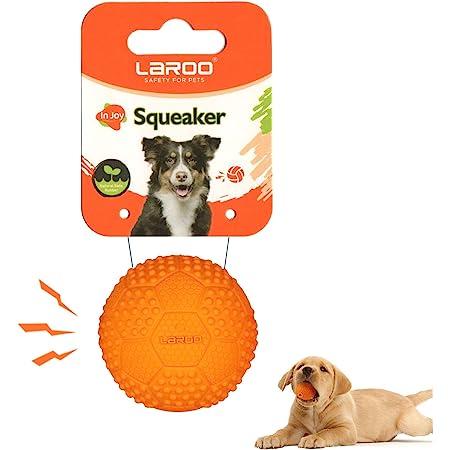 LaRoo犬おもちゃ、音が出る音が鳴る玩具、噛むおもちゃ、天然ラバ歯磨き、耐久性のある、投げる