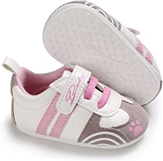 BENHERO Baby Boys Girls Canvas Toddler Sneaker Anti-Slip First Walkers Candy Shoes 0-24..