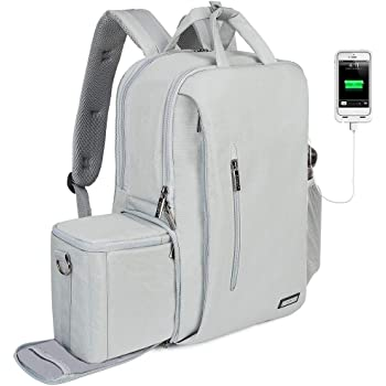 Up to 9.7inch Tablet Pocket//Light Gray//DGB-S042LGY ELECOM offtoco 2 Style Backpack with Camera Storage Design Choose Your Style