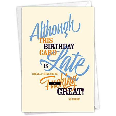 late birthday card funny rude inappropriate period for her girlfriend friend
