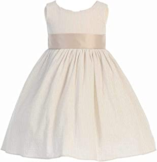 Swea Pea & Lili Easter Dresses for Girls - 100% Cotton Seersucker Spring Dress