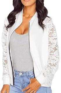 Womens Long Sleeve Lace Blazer Suit Jacket Coat Outwear