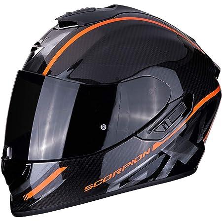 Scorpion Unisex Erwachsene Nc Motorrad Helm Schwarz Orange S Auto