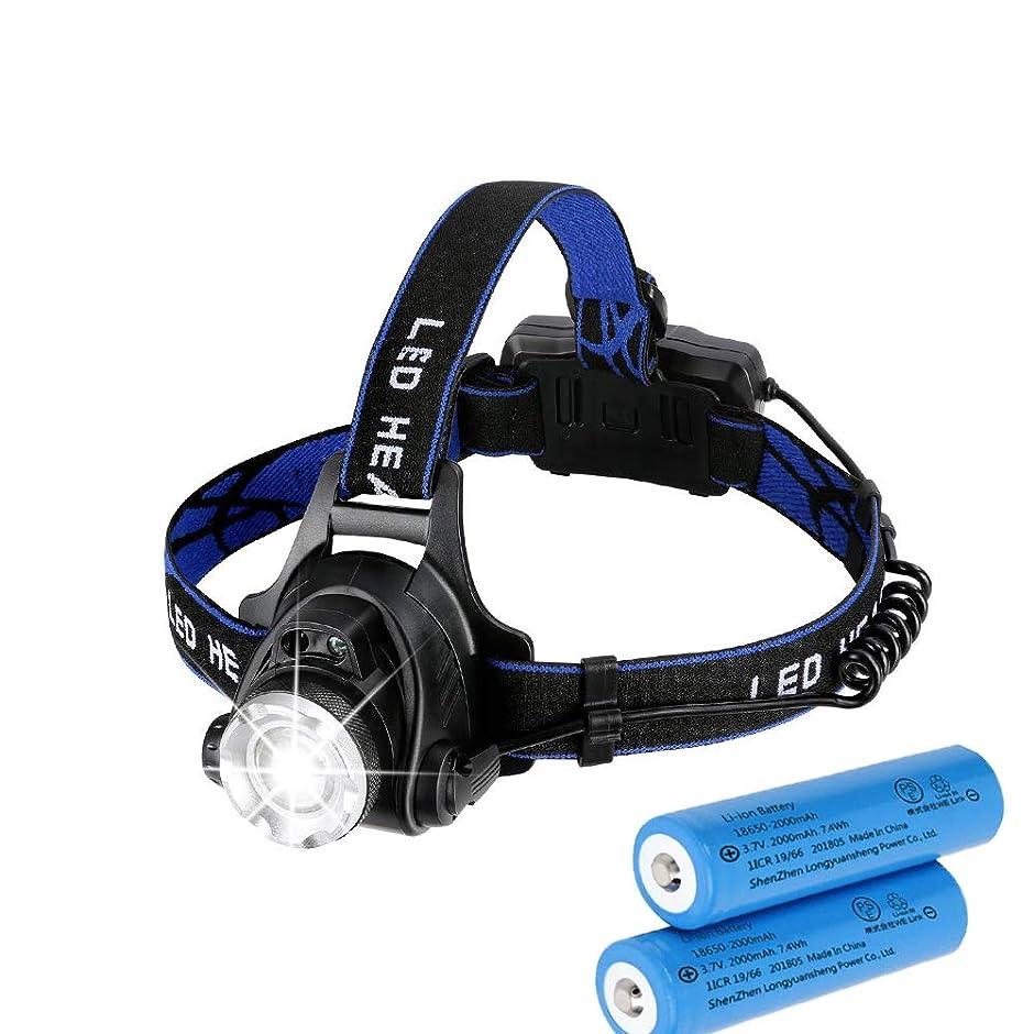 ハシー暫定オプショナルTODAK1877 LEDヘッドライトusb充電式 センサー機能 18650バッテリー付き 防水 防災 夜釣り 登山 ヘッドランプ