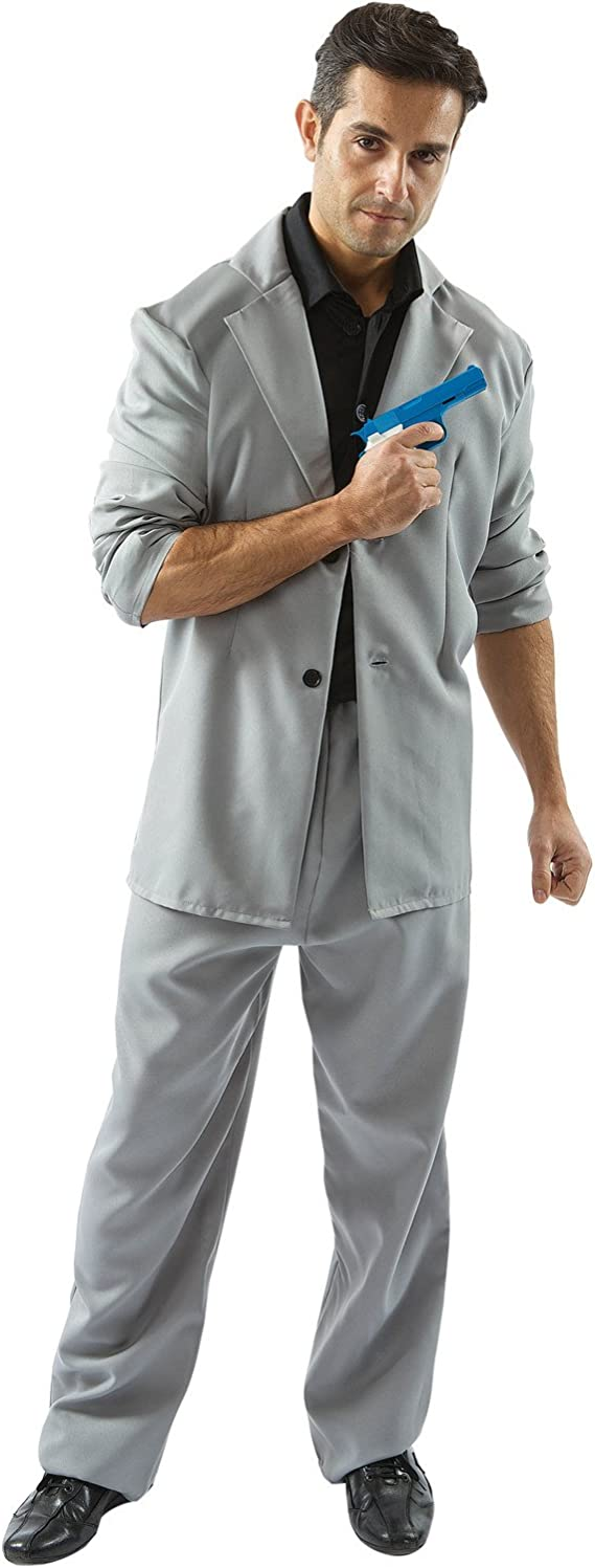 90s Outfits for Guys | Trendy, Party, Cool, Casaul Adult Florida Detective (Black and Grey) Costume  AT vintagedancer.com