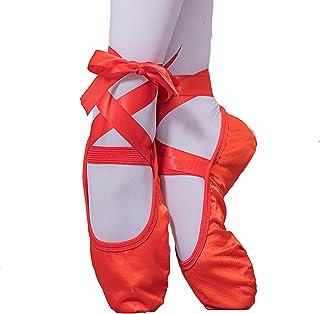 AGYE Zapatillas de Ballet, Zapatos de Ballet para Niñas,Zapatillas de Baile para Mujer, Zapatillas de Gimnasia para Yoga, ...