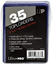 """Ultra Pro Toploaders Card Protectors Ultra Clear 35-Count 3"""" x 4"""" Size for 2.5"""" x 3.5"""" Cards"""