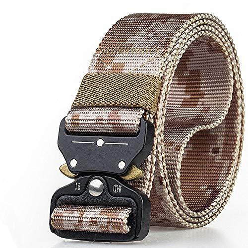 JunMei Cinturón táctico, Hebilla de liberación rápida Cinturón de Cintura de Nylon con Hebilla de Metal, Ancho 1.5 Pulgadas, cinturón de Cintura Resistente Estilo Militar Ajustable