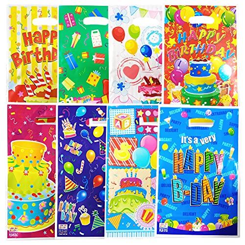 XINCHEN - 80 bolsas de regalo de cumpleaños, bolsa de regalo de plástico para caramelos, fiestas, cumpleaños, fiestas, etc.