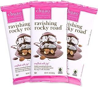 Chocolate Bars - Chuao Chocolatier Chocolate Bars 3pk (2.8 oz bars) - Best-Selling Chocolate Pack - Gourmet Artisan Chocolate - Free of Artificial Flavors (Ravishing Rocky Road, Milk Chocolate)