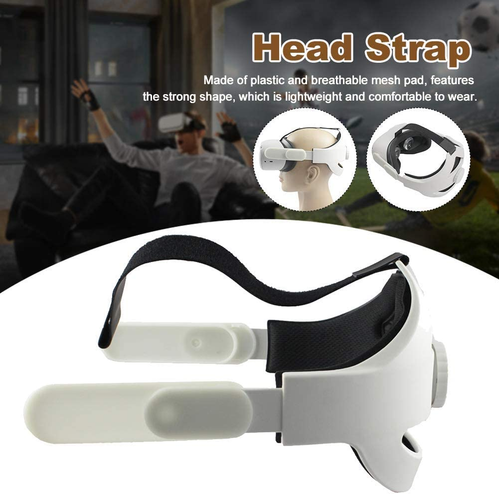 VR Headset Replacement Headband Fom Pad Strap Enhanced Support and Reduce Head Pressure Comfortable Touch POHOVE Adjustable VR Head Strap Oculus-Quest 2 Replace Elite Strap