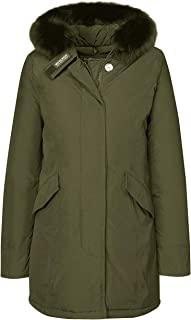 Woolrich John Rich & Bros Women's Luxury Arctic Parka Fox Dark Green Small