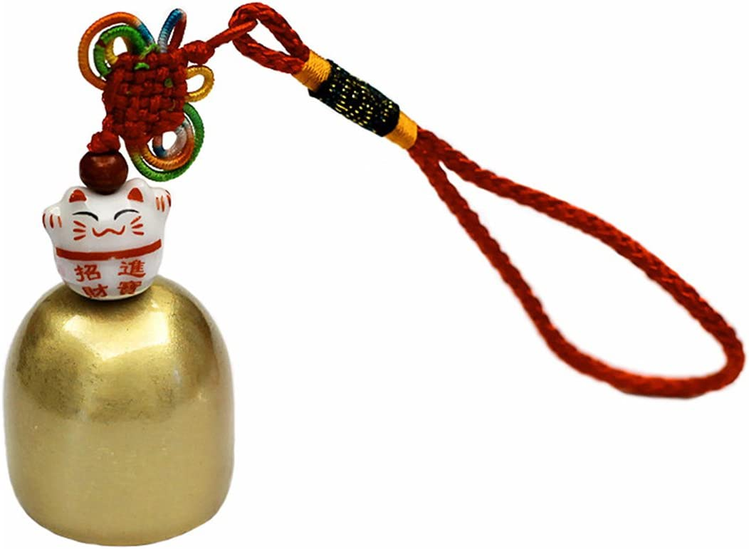 fengshuisale Brass Fortune Outlet sale feature Lucky Cat Door Bell Handbag 70% OFF Outlet Hang Wall