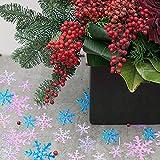 HOWAF 500 Stück Weihnachten Schneeflocken Konfetti, Weihnachten Winter deko Blau und Weiß Schneeflocken Streudeko Schneeflocken Konfetti Tischdeko, Hochzeit, Geburtstag, Weihnachts Dekorationen - 5