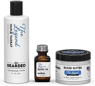 Beard Bundle - Beard Oil, Beard Butter, Beard Wash - The Legend