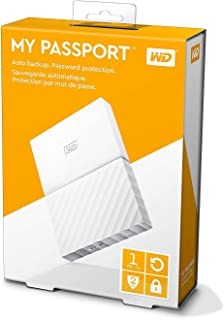 WD 1TB My Passport Portable External Hard Drive USB 3.0 - White, WDBYNN0010BWT