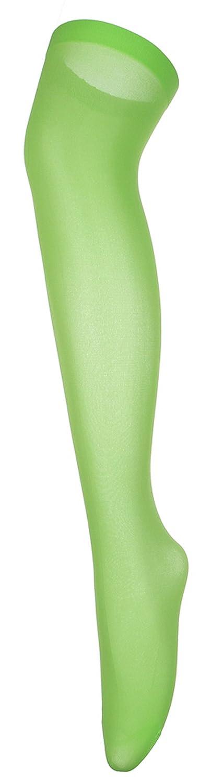 (ラボーグ) La Vogue レディース ニーハイ ソックス 女性 膝上 靴下 オーバーニー ストッキング タイツ ランジェリー シースルー ストレッチ 可愛い 美脚 緑色