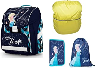 d9fc0349f7 Disney Eiskönigin Frozen Schulranzen Mädchen 1 Klasse Tornister Schulrucksack  Schultasche Set 4 teilig für Grundschule super