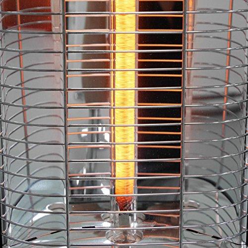 VASNER StandLine Mini 12 Infrarot Stand-Heizstrahler – schwarz – 1200 Watt mit Thermostat, Infrarotstrahler für überdachte Terrasse Außenbereich - 7