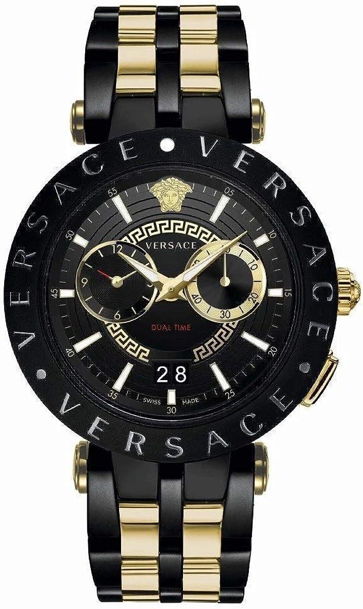 Versace Reloj Análogo para Hombre de Cuarzo con Correa en Acero Inoxidable VEBV00619